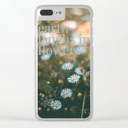 Earth laughs in flowers - v2 Clear iPhone Case