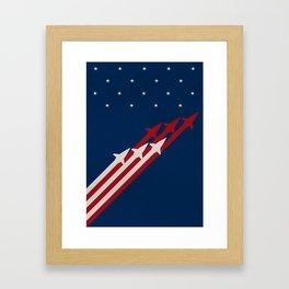Stars and Ships Framed Art Print