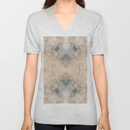 Glitch Vintage Rug Abstract Unisex V-Neck