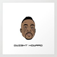 dwight Art Prints featuring Dwight Howard by Λdd1x7