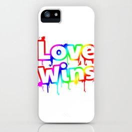 Gay Pride Gift Product LGBT Love Wins Rainbow Tank Top iPhone Case