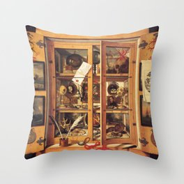 Cabinet of Curiosities Throw Pillow