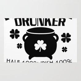 He's My Drunker Half St. Patrick's Day Shamrocks Rug
