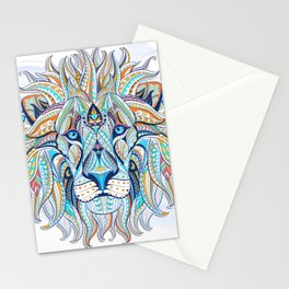 Blue Ethnic Lion Stationery Cards