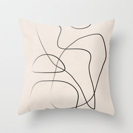 Abstract Line I Throw Pillow