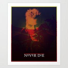 Motorcycle Never Dies Art Print