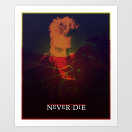 Motorcycle Never Dies Art Print