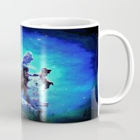 nebula Mugs featuring Blue Pillars of Creation nEBULA  by 2sweet4words Designs