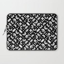 Control Your Game - White on Black Laptop Sleeve