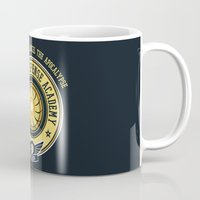 pacific rim Mugs featuring Pacific Rim Defense Academy by fishbiscuit