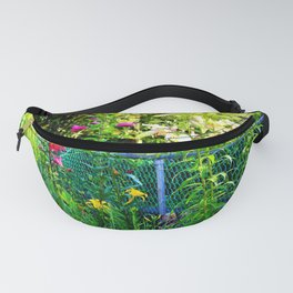 Lilies By The Fence Fanny Pack