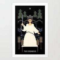 tarot Art Prints featuring Tarot: Empress by Merlin