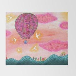 Pink Balloons Throw Blanket