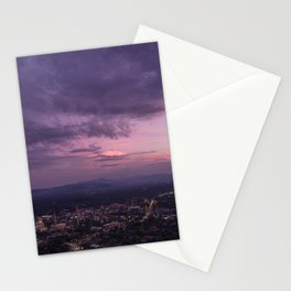 Asheville Stormy Nights Passing By Stationery Cards