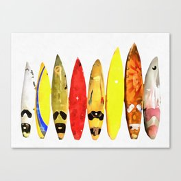 Surf Boards Painting Canvas Print