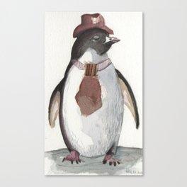 Sarcatic penguin Canvas Print
