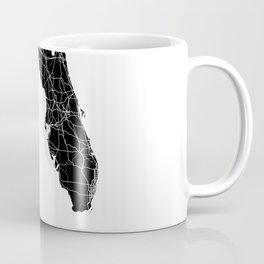 Florida Black Map Coffee Mug