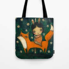 Riding My Fox Tote Bag