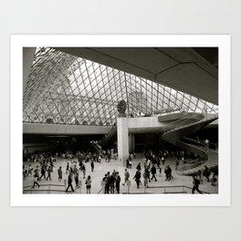 Inside the Louvre  Art Print