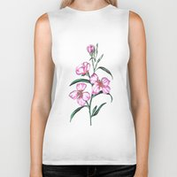 botanical Biker Tanks featuring Botanical Illustration  by Sobottastudies