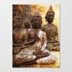 the 4 Buddhas Canvas Print