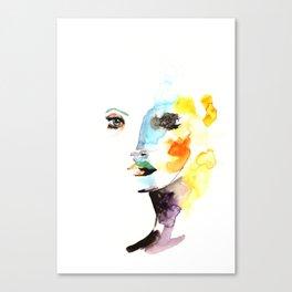 WATERCOLOR FACE Canvas Print