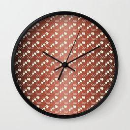 Abstract gradient holiday pattern. Wall Clock