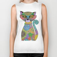 paisley Biker Tanks featuring Paisley Pussy by SwanniePhotoArt
