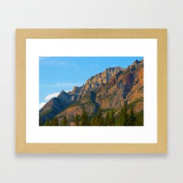 Mt. Kerkeslin in Jasper National Park Framed Art Print