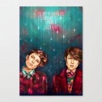 tegan and sara Canvas Prints featuring Tegan & Sara by Miriam R. Kent