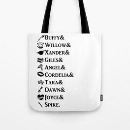 Buffy the Vampire Slayer Names Tote Bag