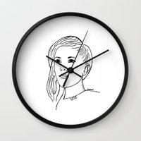 ellie goulding Wall Clocks featuring Ellie  by Rosalia Mendoza
