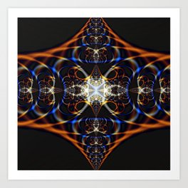 Fractal Waves Art Print