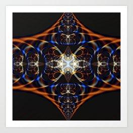 Fractal Waves Art Print