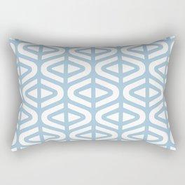 Mid Century Modern Split Triangle Pattern Pale Blue 2 Rectangular Pillow