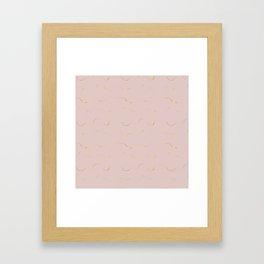 Elegant blush pink gold watercolor brushstrokes Framed Art Print