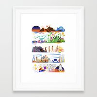 onward Framed Art Prints featuring Onward by Kitkat Pecson