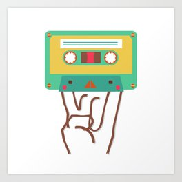 rock'n roll cassette Art Print