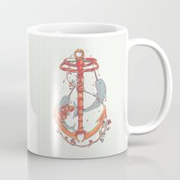 under the sea Mugs featuring Under The Sea by Huebucket