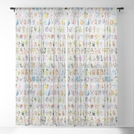 Gold & Silver 97 Sheer Curtain
