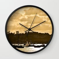shining Wall Clocks featuring Shining by JJ Images