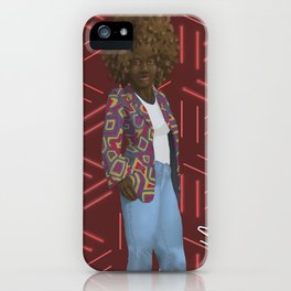Afro Colorful Jacket African Print Background iPhone Case