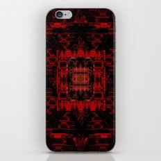 Red and Black Pattern iPhone Skin