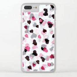 Raining love Clear iPhone Case