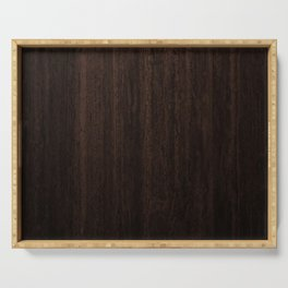 Very Dark Coffee Table Wood Texture Serving Tray