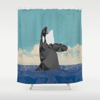 killer whale Shower Curtains featuring Killer Whale II by Jacek Muda