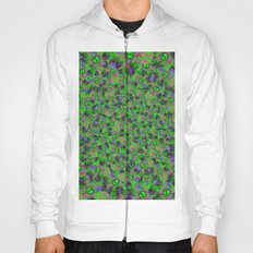 Abstract sewn flowers Hoody