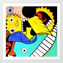 Glitterpuke Art Print