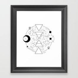 Celestial Alchemical Earth Framed Art Print