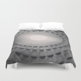 The Pantheon dome, architectural photography, Michael Kenna style, Rome photo Duvet Cover